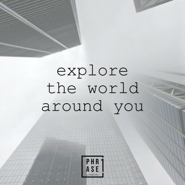 Explore the world around you | Kissen mit Füllung
