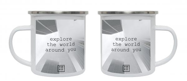Explore the world around you   Emaille Becher