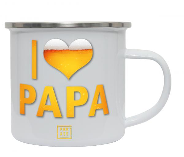I love Papa   Emaille Becher