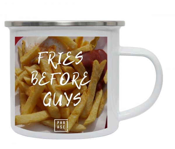 Fries before guys⠀ | Emaille Becher