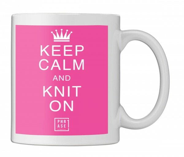 Keep calm and knit on   Tasse