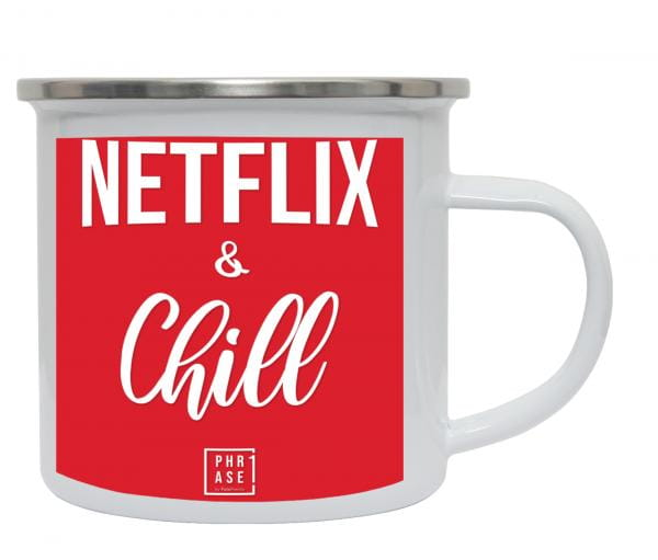 Netflix and Chill | Emaille Becher
