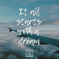 It all starts with a dream | Emaille Becher