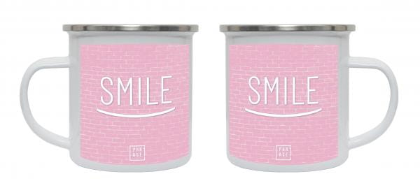 Smile   Emaille Becher