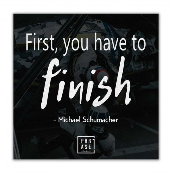 First, you have to finish - ...   Leinwand