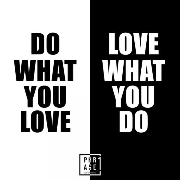 Do what you love. Love what ... | Emaille Becher