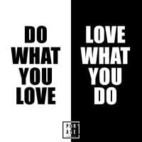Do what you love. Love what ...   Emaille Becher